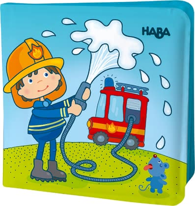 Haba 魔術-沐浴書  消防車 -  * This adorable magic bath book by Haba provides your little one with magical bathing fun. No matter if it is used in the bathtub or in the paddling pool, your child will be totally amazed by their new bath companion.