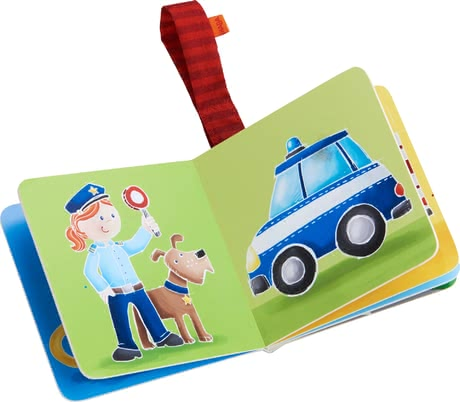 Haba 嬰兒推車懸掛書 救世主在行動 -  * A street warden with a loyal dog by their side, a brave firefighter or rather a helper in time of need? Let your child decide!