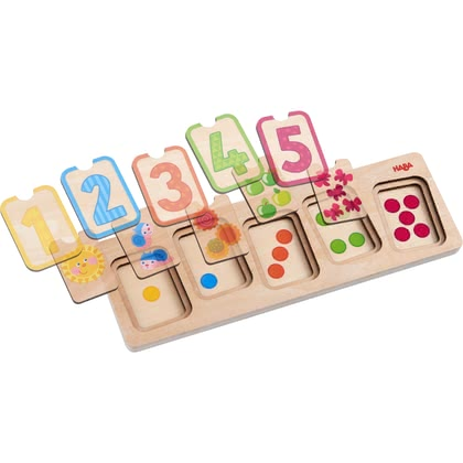 Haba木質拼圖 數字游戲 -  * This adorable puzzle will definitely delight your little explorer and contribute to their curiosity about and their fascination by this kind of game.