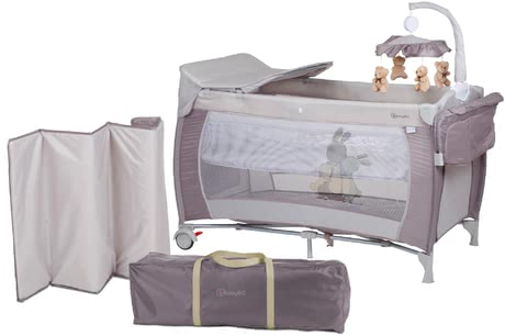 BabyGO可移動嬰兒床 Sleeper Deluxe -  * With the BabyGO travel cot Sleeper Deluxe you are fully equipped at all times. It comes with all the amenities your little one knows from at home.