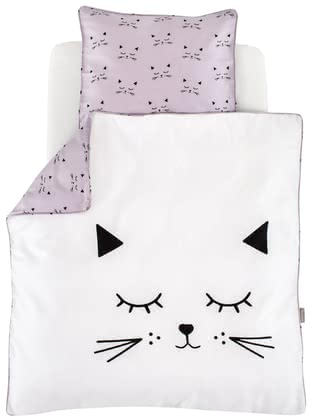 Träumeland床上用品卡通貓造型80 x 80 cm -  * Simple and beautiful, the cute cat motifs do not only enchant your little cat lover. A modern colour adds an adorable touch to the bed linen and thus emphasise its timeless look.