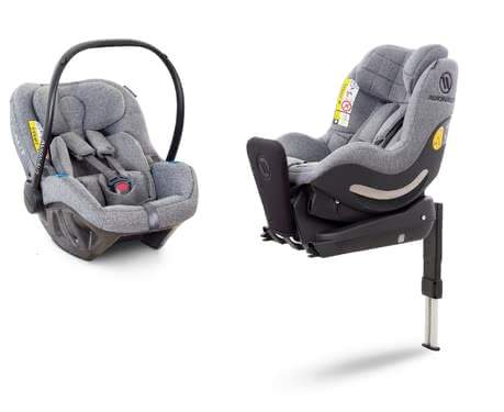 Avionaut 嬰兒提籃和汽座套裝Pixel-Aerofix -  * Safety from the first day of life! The Avionaut Modular Set which comes with the infant car seat Pixel, the child car seat AeroFIX and the matching IQ-Base provides safety in a rear-facing mode right from the beginning.