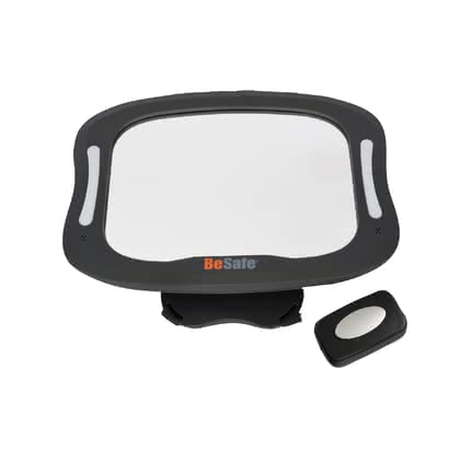 BeSafe 安全座椅後視鏡 帶燈光 -  * With the BeSafe XL baby mirror that features an extra-large mirror surface, a flexible rotation and a tilt mechanism on the rear seat, you can always keep an eye on your child.