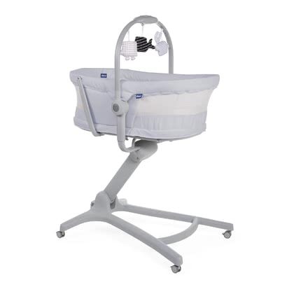 Chicco多功能嬰兒床4合一功能air系列 -  * The new Chicco Baby Hug Air is equipped with mesh windows on both sides and thus guarantees increased air circulation and better eye contact.