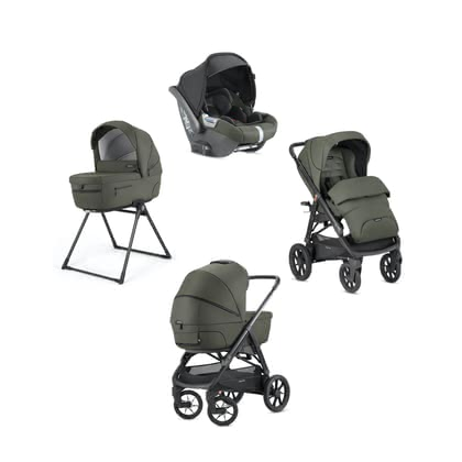 "Inglesina兒童推車Aptica XT System Quattro Darwin -  * The large ""Adaptive Cruise"" wheels of the Inglesina Aptica XT adapt to any terrain and to the weight of your growing child alike, and thus, they guarantee maximum wellbeing wherever you are."