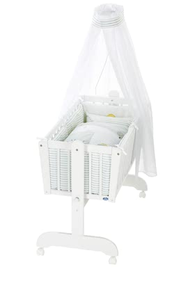 Alvi 嬰兒搖籃床 6件裝Little Farm款式 -  * The classic Alvi cradle stands out as the perfect sleeping place for newborns. The romantic environment provided by this set will make your baby feel safe right from the start.