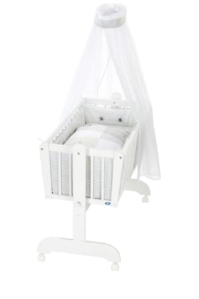 Alvi 嬰兒搖籃床 6件裝Faces款式 -  * The classic Alvi cradle stands out as the perfect sleeping place for newborns. The romantic environment provided by this set will make your baby feel safe right from the start.