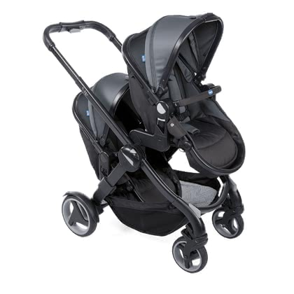 Chicco雙胞胎兒童推車Fully Twin -  * The Fully Twin double stroller by Chicco is versatile, comfortable and suitable for any terrain. It's the perfect stroller for parents who are looking for a simple and intuitive solution in the turbulent everyday life with twins.
