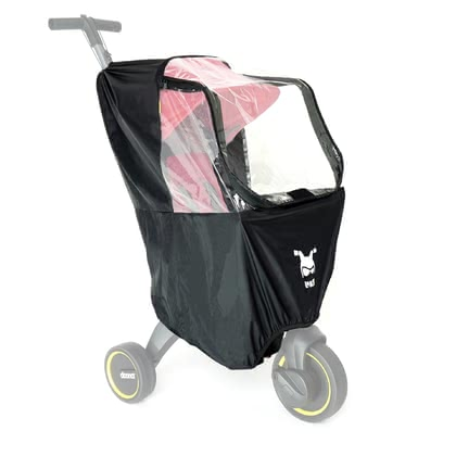 Doona 雨罩適用於Liki Trike -  * Specially designed for all Doona Liki trikes, this rain cover keeps your little one dry even in bad weather. The water-repellent fabric lets raindrops drip off.