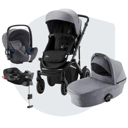 Britax Römer Stroller SMILE III – Comfort Plus Bundle Frost Grey, Black 2020 - 大圖像