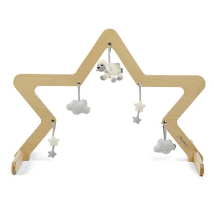 Sterntaler木質玩具懸掛架帶有玩偶裝飾 -  * Sterntaler's wooden play arch comes in a natural colour and can be put over your baby's crawling blanket or play mat. Its star-shaped look stands out as a real eye-catcher in every nursery.