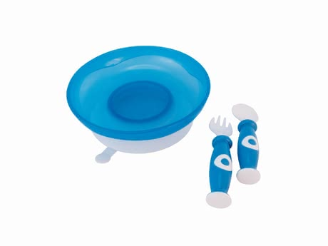 Bieco餐具套裝 -  * Consisting of a plate with a suction cup, a fork and a spoon, the Bieco meal set makes feeding your child easier.