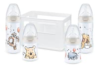 NUK First Choice+ Starter Set奶瓶套裝帶有溫感指示功能 -  * ✓ Baby bottles with temperature display ✓ Silicone teat with anti-colic air system ✓ High quality & non-toxic ✓ Contents: 4 bottles, 1 bottle box
