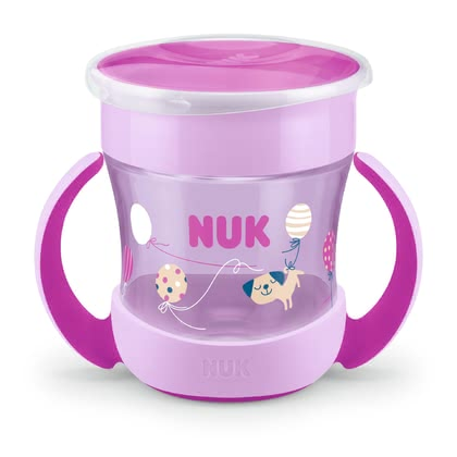 NUK EVOLUTION Mini魔術杯 -  * The NUK Mini Magic Cup lets even the youngest kids drink like the big kids. The 360° drinking rim encourages your child to practise drinking all the way round – almost like a normal cup.