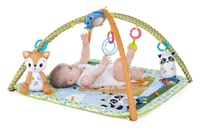 Chicco玩具爬行墊 神奇的森林 -  * With its versatility, the Chicco play arch will delight both parents and babies alike. The soft-padded play mat feels super comfy and keeps away the cold of the floor from your child.