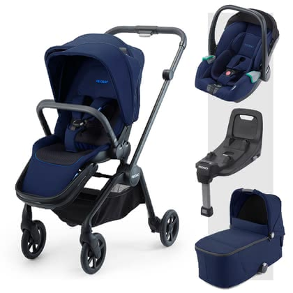 Recaro Sadena 3-in-1組合系列包含Isofix底座 -  * The perfect companion for every situation right from the very first day! The Recaro Sadena 3-in-1 travel system comes with a seat unit, carrycot and the Avan infant car seat. Attached to the compact Sadena frame, each component stands out as the ideal companion in an urban environment.