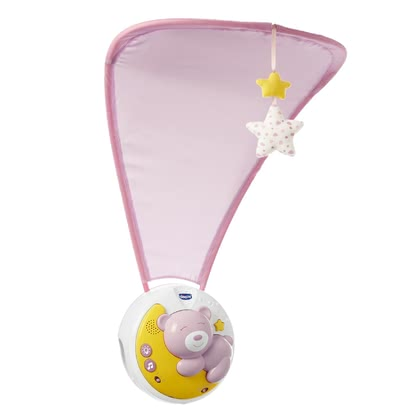 Chicco Next2Moon 嬰兒床床掛帶有小夜燈模式 -  * The innovative Chicco Next2Moon mobile with projector adds a magical atmosphere to every nursery. It combines different lullabies with a gentle projection.