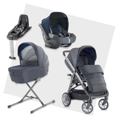 Inglesina Aptica System Quattr系列套裝帶有DARWIN i-Size兒童提籃包含Base底座 -  * The unmistakable glam style will attract all trend-conscious and modern parents. The Aptica is not only a sporty companion, it scores with convenient handling and a lot of comfort for your little one.