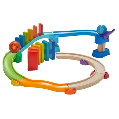 HABA Kullerbü – Ball Track Kringel Domino -  * When all dominoes are put in their place, you are ready to start the colourful roller pleasure.