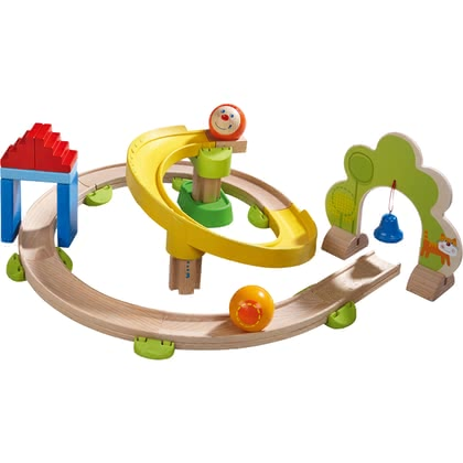 HABA Kullerbü – 軌道滾珠玩具 火車站點 -  * The colourful Spiral Track with its many curves ensures crazy Kullerbü fun.