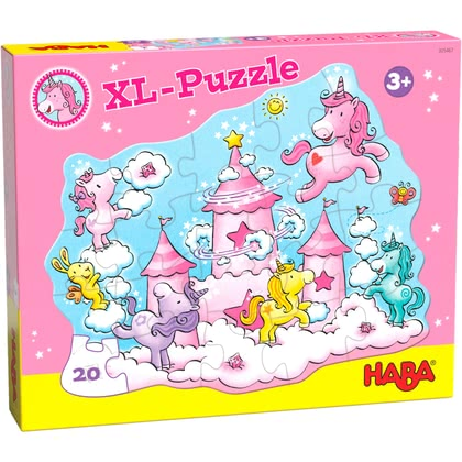 HABA  獨角獸閃閃發光的幸福-拼圖玩具 -  * Entry-level puzzle fun for little unicorn fans./li>