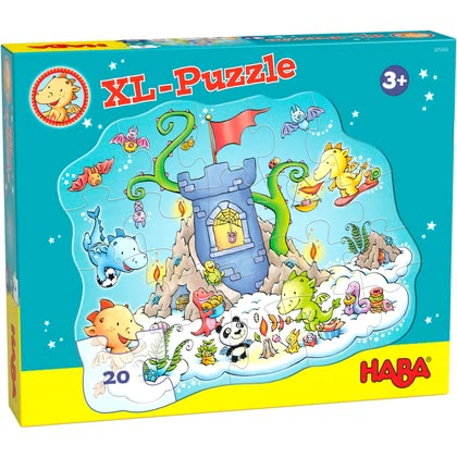 HABA  龍的烽火臺- 拼圖玩具 -  * Entry-level puzzle fun for little dragon fans.