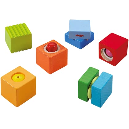 HABA 益智早教類 木質音樂和聲音玩具 -  * Squeaking, clacking, rattling, tinkling - with each building block your child can discover different exciting noises and sounds.
