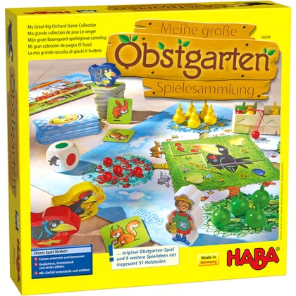 HABA 益智玩具桌游 團隊游戲 大型果園 -  * 10 great games in one pack – with this extensive collection boredom belongs to the past.