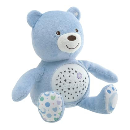 "Chicco 音樂玩具熊 帶有夜燈功能 -  * Cuddle, play and sleep – your child will instantly fall in love with the cute ""Baby Bear"" by Chicco."