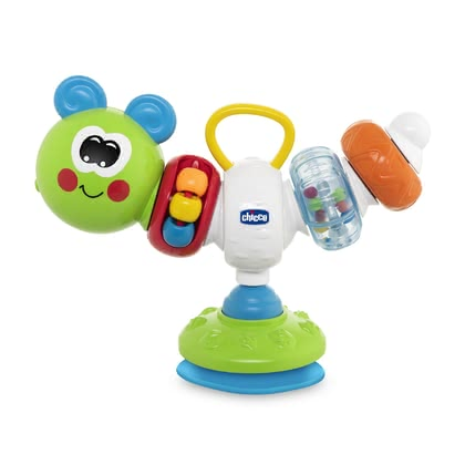 "Chicco Highchair Toy ""Phill the Caterpillar"" -  * ""Phill the Caterpillar"" is a fun, colourful highchair toy with a suction cup. It will turn every meal in the highchair into a cheerful experience!"