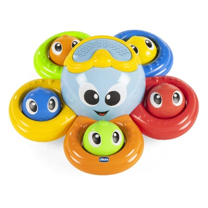"Chicco 洗澡沐浴玩具 章魚造型 -  * ""Billy"" is a colourful and cheerful octopus that accompanies your child while bathing. With a variety of activities, this fab toy ensures that you can have fun in the pool or bathtub at all times!"