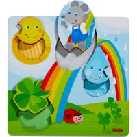 HABA  拼圖游戲 木質玩具 小老鼠 -  * Your child will be absolutely delighted with this tactile puzzle!