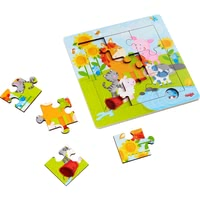 HABA 木質拼圖玩具 動物朋友 -  * With this lovingly designed wooden puzzle, little explorers can accompany their favourite animals on a sunny day in the meadow.