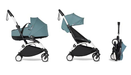 BABYZEN 嬰兒推車 YOYO² 包含可平躺嬰兒睡籃 -  * ✓Suitable from birth ✓capacity up to 22 kg ✓Foldable carrycot ✓2-piece textile set ✓light in weight ✓Hand luggage ✓Excellent cushioning