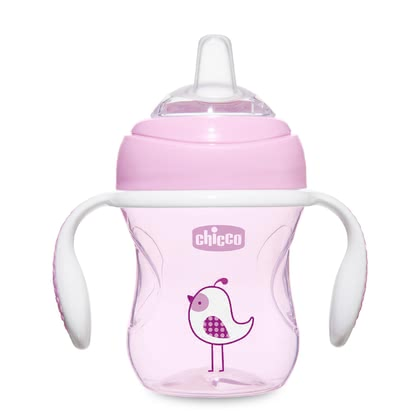 Chicco 飲水杯»Transition Cup« -  * ✓ Learner cup with ergonomic handles ✓ soft silicone drinking spout ✓ leak-proof ✓ hygienic cap ✓ holds 200 ml ✓ ideal for breastfed babies ✓ BPA-free