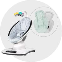 4moms 嬰兒搖椅 mamaRoo 4.0 包含 新生兒內墊 - ✓ unique 5 motions ✓ 5 speed levels ✓ natural sounds ✓ adjustable sitting and lying position ✓ suitable from birth ✓ including newborn insert ✓ Reversible pad ✓ Smart Device ✓ Control via app