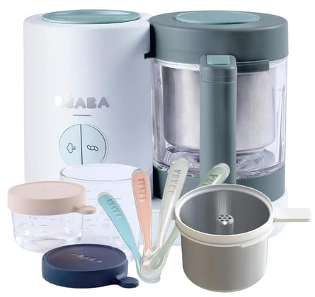 Béaba 四合一 嬰兒輔食料理機NEO 包含專屬超值配件 -  * ✓4in1 food processor ✓modern ✓ gentle ✓fresh preparation ✓healthy ✓pasta and rice cooker ✓ glass containers ✓exclusive bundle ✓feeding spoon in a set of 4