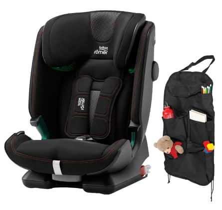 Britax Römer Advansafix i-Size 兒童安全汽座 包含汽車收納袋 -  * ✓Safety according to i-Size standard ✓XP-PAD ✓SecureGuard ✓EasyRecline ✓incl. car seat organizer ✓ relaxed car ride ✓ from approx. 15 months ✓ easy installation and conversion ✓ bundle ✓ Made in Germany