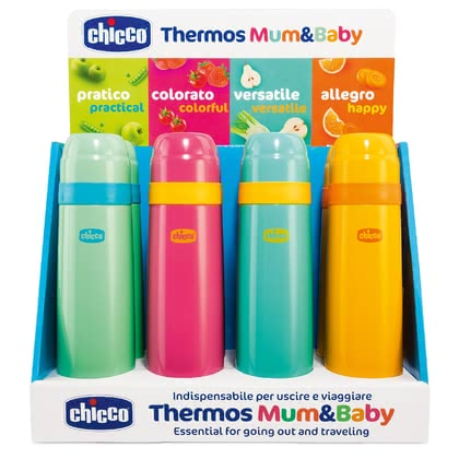 Chicco 保溫瓶  »Mum & Baby« -  * ✓ thermal bottle in trendy colours ✓ holds 500 ml of hot or cold drinks ✓ keeps the temperature for approx. 5 hours ✓ sustainable ✓ free from harmful substances