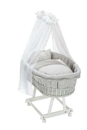 Alvi搖籃床床上用品三件套Birthe -  * The enchanting bassinet textile set by Alvi adds a dreamlike touch to every nursery. ➤ Order now!