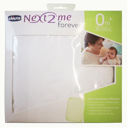 "Chicco床墊保護墊Frottee Next2Me -  * The mattress protector ""Terrycloth"" for all Chicco Next2Me cots consists of soft and highly absorbent terrycloth."