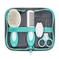 Reer 嬰兒護理5件套 -  * ✓ for baby care at home & on the go ✓ the most important basics in a set ✓ Contents: hairbrush, comb, nail scissors, nail clippers, nail file, case