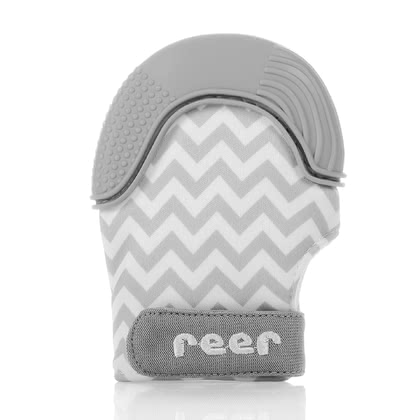 reer磨牙手套 -  * ✓ natural relief of teething pain through counterpressure & distraction ✓ protects baby's hands ✓ non-toxic, food-safe, washable