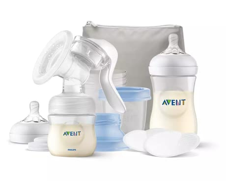 Philips AVENT  喂養套裝包含手動式吸奶器 -  * The extensive Philips AVENT breastfeeding set including manual breast pump contains everything you need to have a carefree start with your little one.